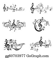Musical Notes Clip Art - Royalty Free - GoGraph