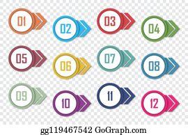 Bullet Clip Art - Iconfinder - Numbered List Cliparts Transparent PNG
