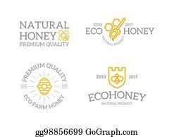 Vector Stock Honey And Bee Logo Clipart Illustration Gg77944077
