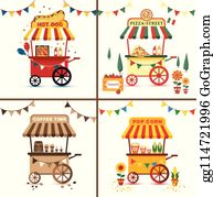 Hot Dog Stand Cartoon - Royalty Free - GoGraph