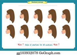 Royalty Free Woman Emoji Vectors - GoGraph