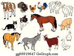 Domestic Animals Clip Art Royalty Free Gograph