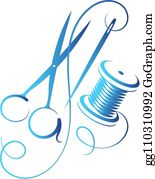 Needle And Thread Clip Art - Royalty Free - GoGraph
