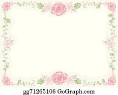 Shabby Chic Flower Design Floral Frame