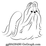 Shih Tzu Clip Art Royalty Free Gograph