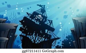 Shipwreck Clip Art - Royalty Free - GoGraph