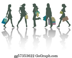 1d59ef29164 Ladies Shopping Clip Art - Royalty Free - GoGraph