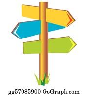 Signpost Clip Art - Royalty Free - GoGraph
