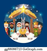 Christmas Nativity Clipart & Vectors – PinkPueblo