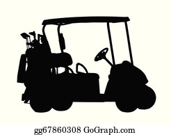 Golf Bags Clip Art - Royalty Free - GoGraph Free Clip Art Golf Cart With Seat Back Html on