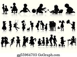 Child Silhouette | Kids silhouette, Silhouette drawing, Silhouette art