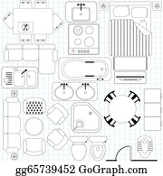 Floor Plan Furniture Clip Art Royalty Free Gograph