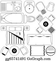 Floor Plan Furniture Clip Art Royalty Free Gograph