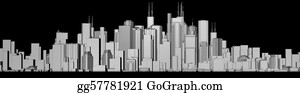 Black And White City Stock Illustrations Royalty Free