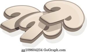 Admirable Sliced Mushroom Clip Art Royalty Free Gograph Download Free Architecture Designs Estepponolmadebymaigaardcom