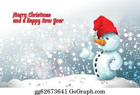 57464e0925c2e Snowman with Santa s Hat in Frozen Winter