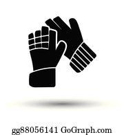 Goalkeeper Gloves Clip Art Royalty Free Gograph