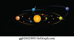 Asteroids Belt Clip Art - Royalty Free - GoGraph