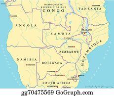 Vector Art South Africa Political Map Clipart Drawing - South africa political map