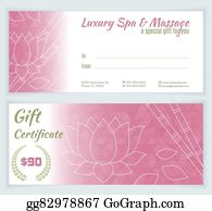 Spa, massage gift certificate template