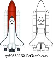 Space Shuttle Clip Art Free Shuttle Vector Spacecraft - Cartoon Nasa Space  Shuttle - Png Download (#5791505) - PinClipart