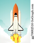 Space Shuttle Clipart #61507 - Illustration by r formidable