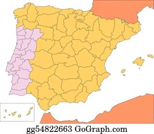 Spain Map Clip Art - Royalty Free - GoGraph