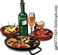 Appetizers Clip Art - Royalty Free - GoGraph