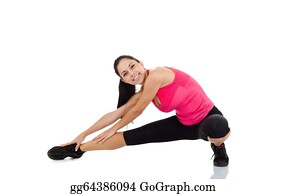 stock photo  back bend stretching posture bending woman