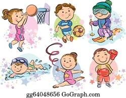 Kids Sports Clip Art Royalty Free Gograph