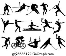 EPS Illustration - Athletes illustrations. Vector Clipart ...