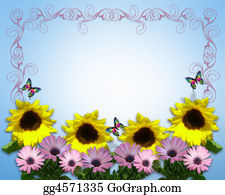 Colorful Spring Flowers Border Illustration Stock Illustrations