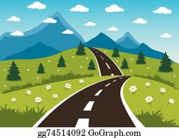 Mountain Road Clip Art