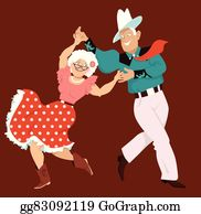Country Dance Clip Art - Royalty Free - GoGraph