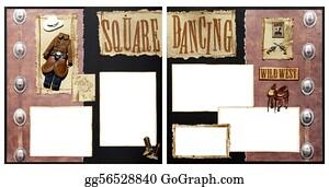 birthday theme scrapbook frame template square dancing scrapbook frame template
