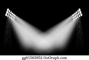 Stadium Lights Clipart
