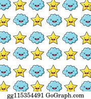 Royalty Free Japanese Cloud Pattern Clip Art - GoGraph