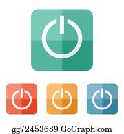 Start Button Cartoon - Royalty Free - GoGraph