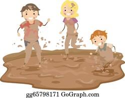 Mud Splashing Png Transparent Images - Brown Paint Splash Png, Png Download  - kindpng