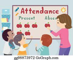 Attendance Clip Art - Royalty Free - GoGraph