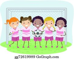 Kids Soccer Clipart Lizenzfrei Gograph