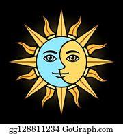 Crescent Moon Face Cartoon Royalty Free Gograph