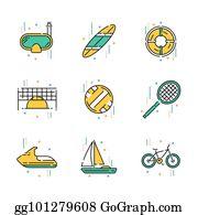 Summer Activities Clip Art - Royalty Free - GoGraph (180 x 195 Pixel)