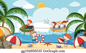 Summer Activities Clip Art Royalty Free Gograph