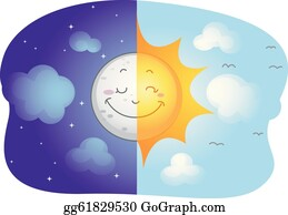 Sunny Day Clip Art - Royalty Free - GoGraph