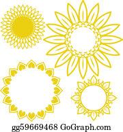 Sunflower Clip Art - Royalty Free - GoGraph