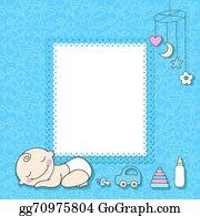 vector stock sweet baby boy announcement card style cartoon