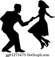 Vector Clipart - Fifties dancers. Vector Illustration gg65080204 - GoGraph