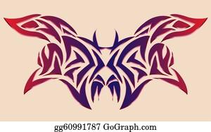 5f4421afa Illustration Tattoo Clip Art - Royalty Free - GoGraph