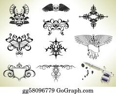 447bab9e7 Flash Tattoo Clip Art - Royalty Free - GoGraph
